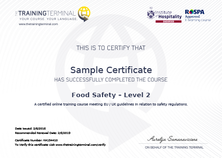 What Food Hygiene Certificate Do I Need To Sell Food The